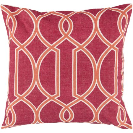 Surya FF-018 Pillow Kit Down Feathers Square Claret Red 18