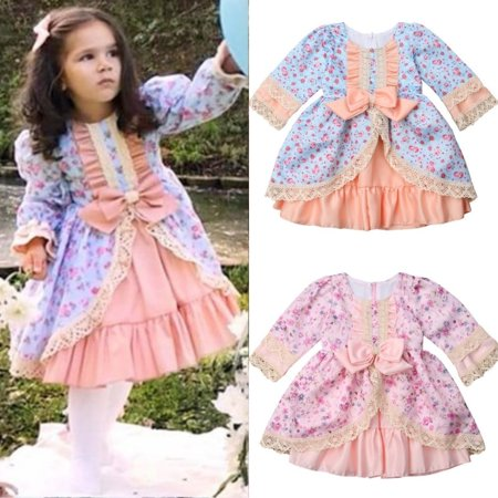 Infant Baby Flower Girl Tutu Dress Christening Baptism Wedding Party Gown Formal Dress 1-6Y