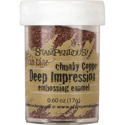 Stampendous Deep Impression Embossing Enamel .63oz -Chunky Copper