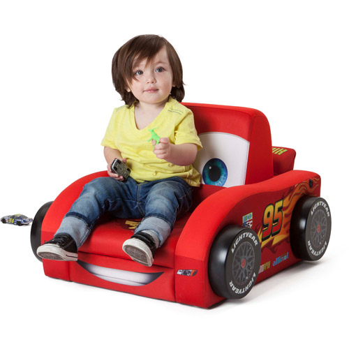 Delta Disney Cars Deluxe Upholstered Car Shaped Chair, Red