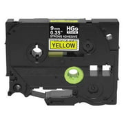 BROTHER Label Tape CTG,26-1/4ftx0.35in,PK5 HGeS6215PK