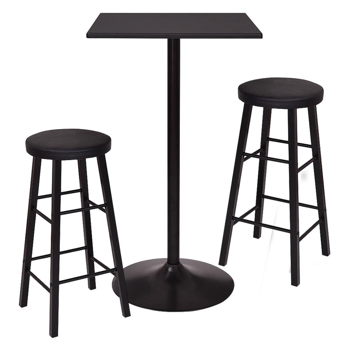 3 pcs Bistro Pub Square Pub Table & Stools Set by