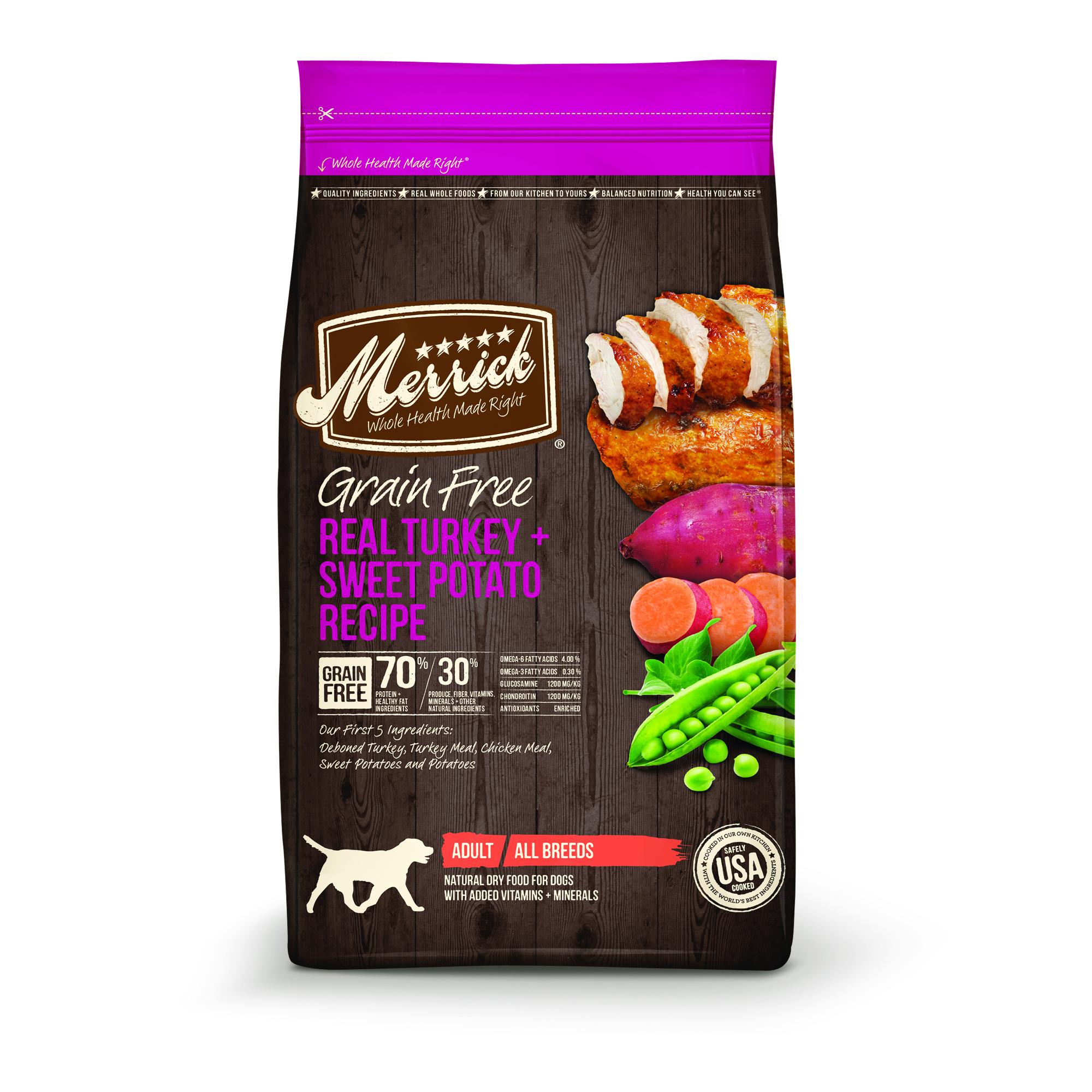 Merrick Grain-Free Real Turkey + Sweet Potato Recipe Dry Dog Food, 25 lb