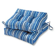 Roma Stripe 20 in. Plush Outdoor Chair Cushion, Set of 2
