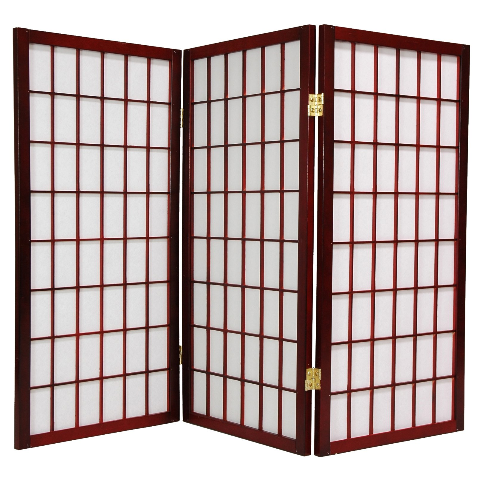 Oriental Furniture Window Pane 36 Inch Tall Shoji Room Divider Walmart Com
