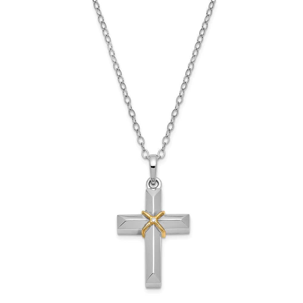 Jewels By Lux 925 Sterling Silver Cross Ash Holder 18 Necklace