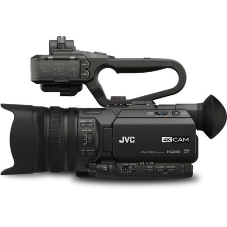 Metal Compact Camcorders - jvc gy-hm170u 4kcam compact professional camcorder with top handle audio unit
