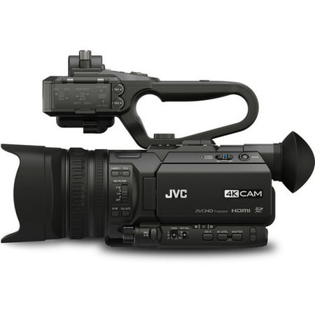 jvc gy-hm170u 4kcam compact professional camcorder with top handle audio unit