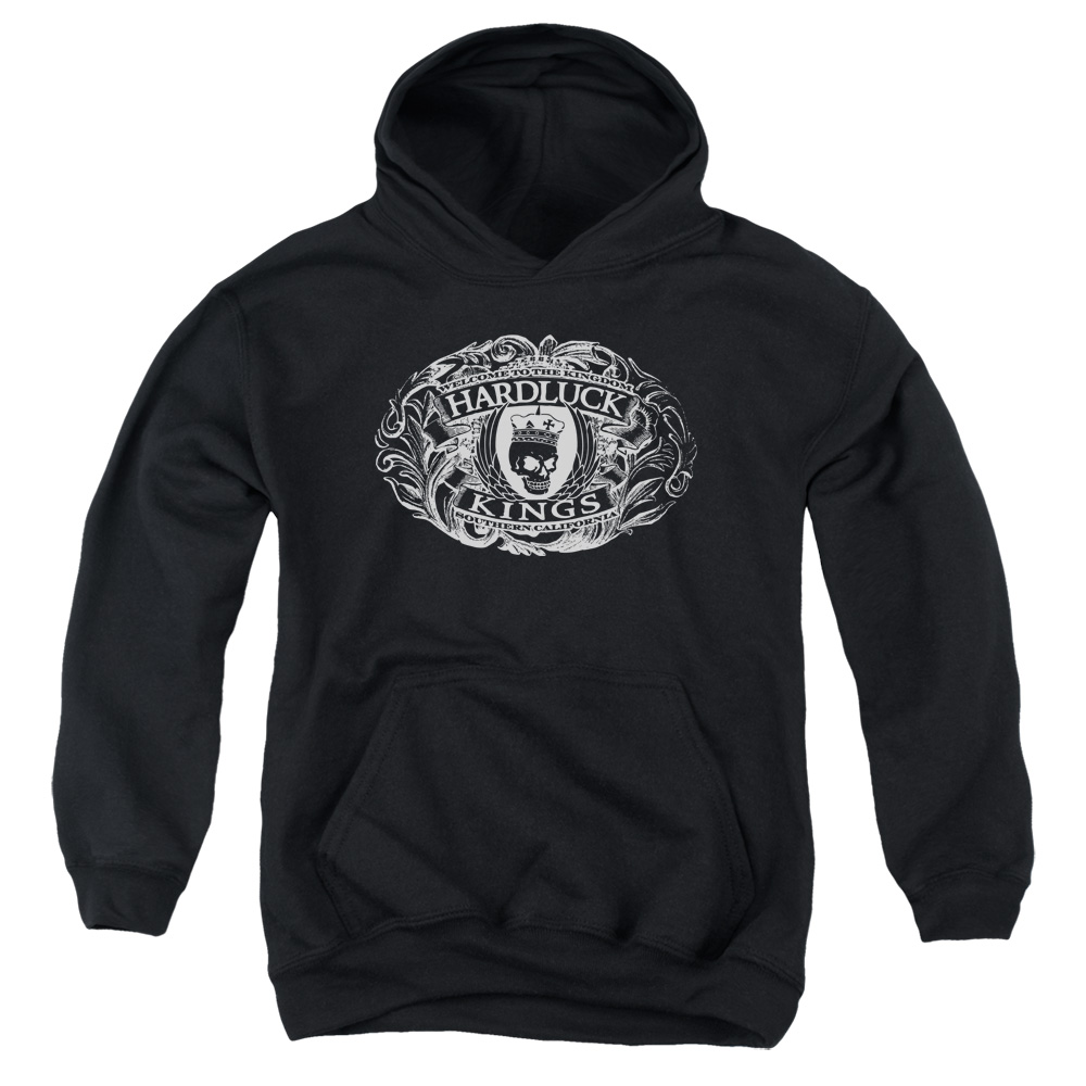 Hardluck Kings Oval Logo Big Boys Pullover Hoodie