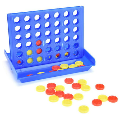 Cosyitems 4 in A Row Game, Connect Game Portable Four Up Board Games (3 Sizes) for Family Kids Adults -Great Xmas Birthday Gifts Travel Games