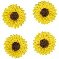 Wilton Sunflower Icing Decorations, 0.6 oz