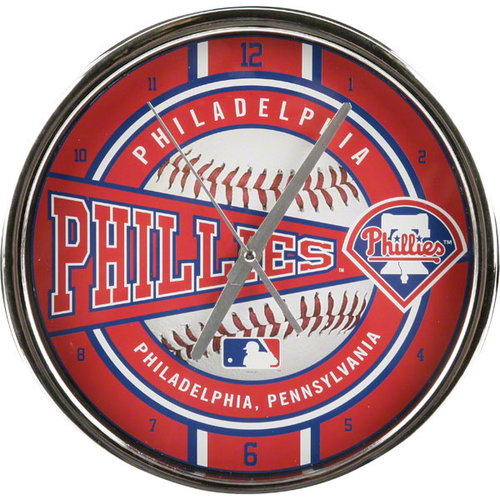 MLB - Philadelphia Phillies Chrome Clock