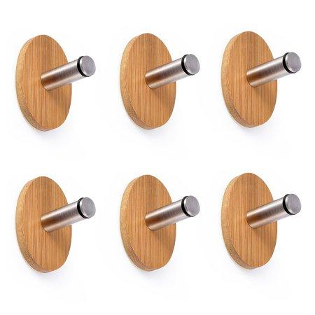 Oak Leaf Adhesive Hooks 6 PCS Heavy Duty Wood  Steel Decorative Stick Wall Hooks Clothes Hangers for Home Kitchen Coats Hats Keys Bags