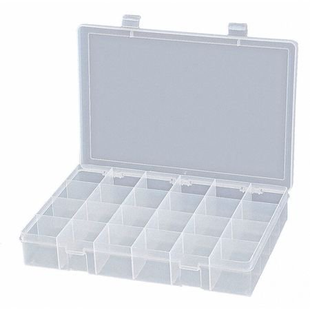 DURHAM Compartment Box,24 Compartments,Clear -