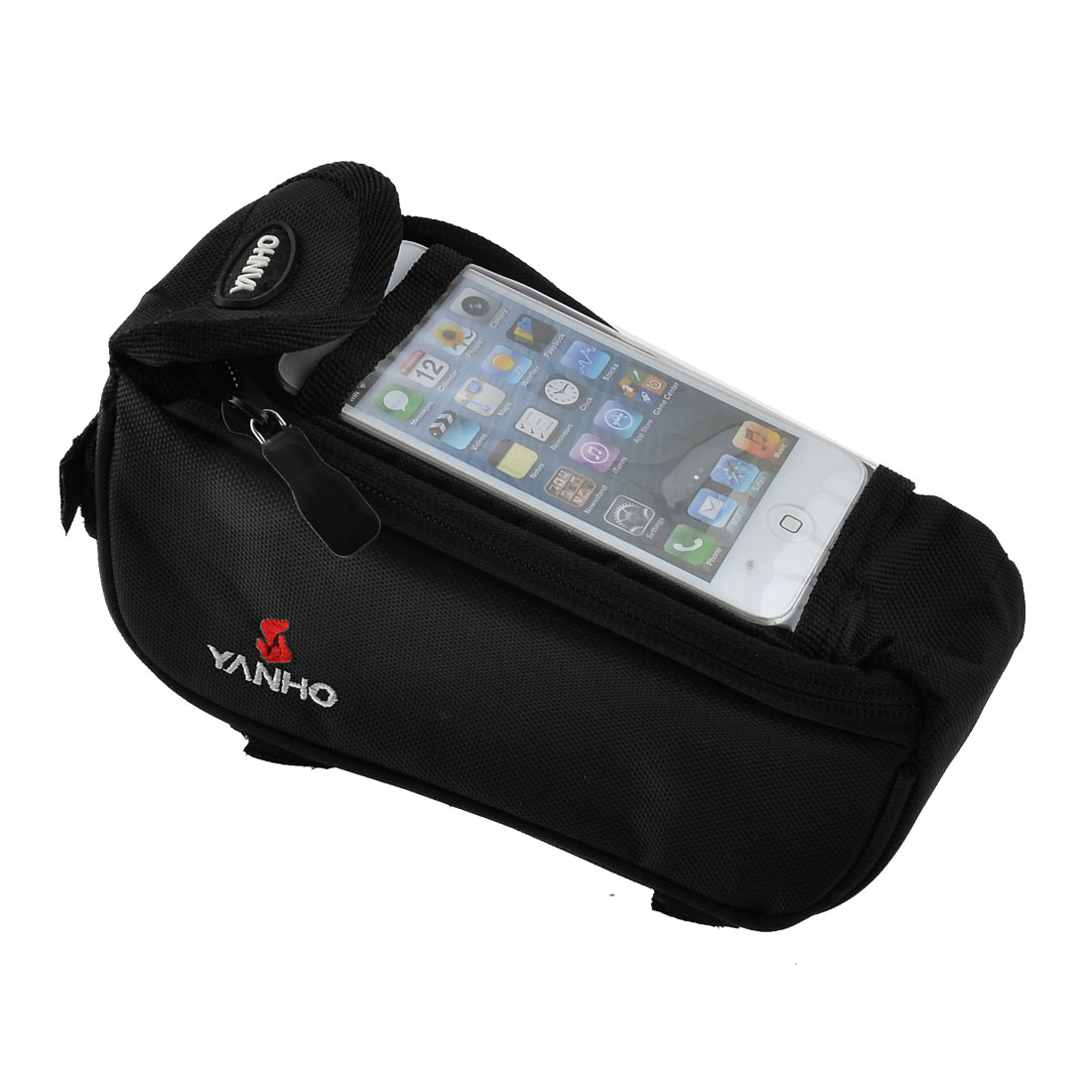 Cycling Outdoor Bicycle Front Tube Bag Handlebar Basket Pouch Black