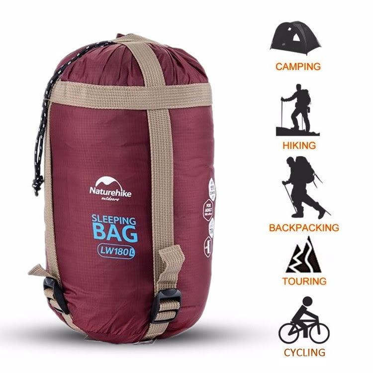 Naturehike Sleeping Bag 8℃-15℃ Lightweight 3-4 Season Ultralight Sleeping Bag with Compression Sack For Camping Hiking Backpacking Travel Kids Men Women