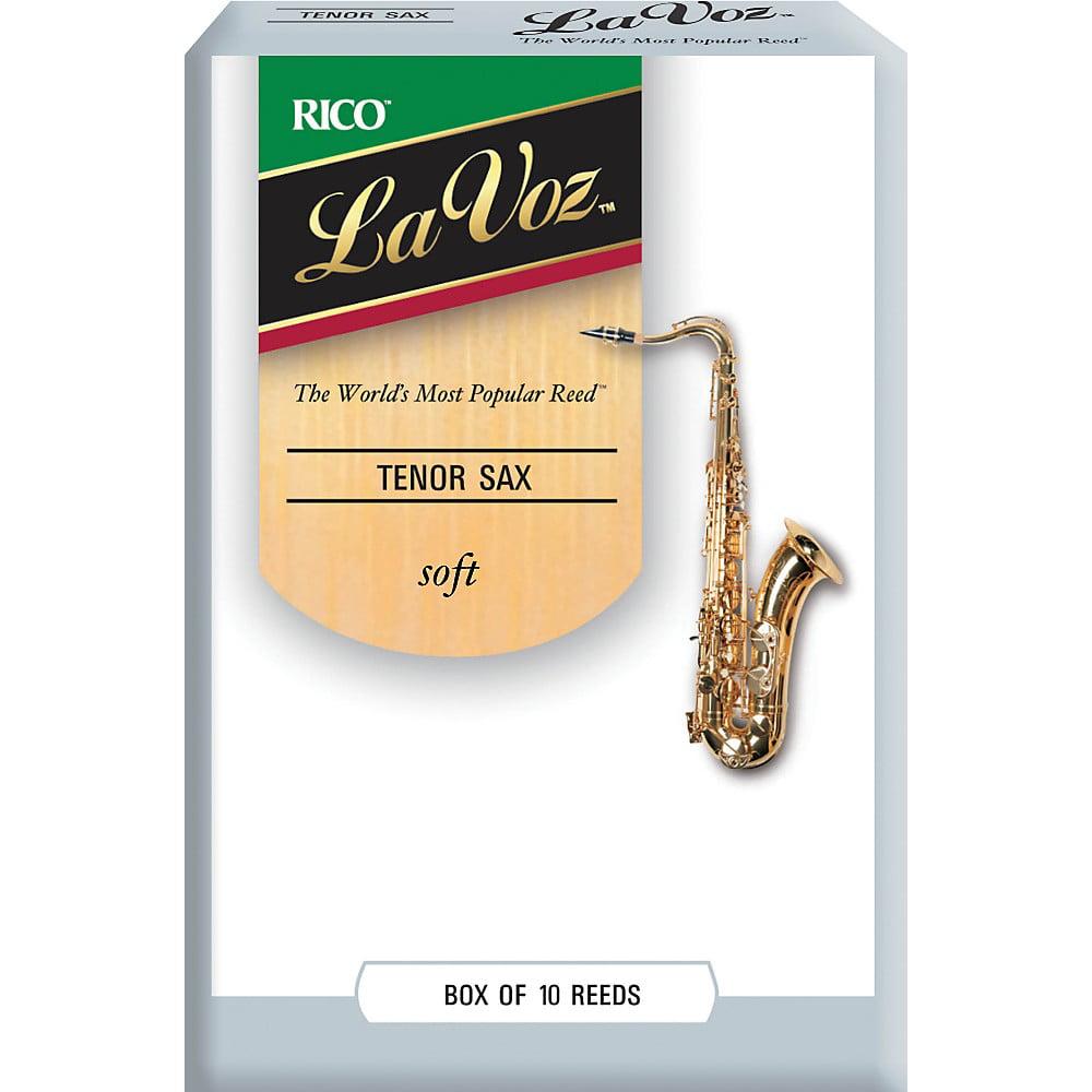 La Voz Tenor Saxophone Reeds Soft Box of 10