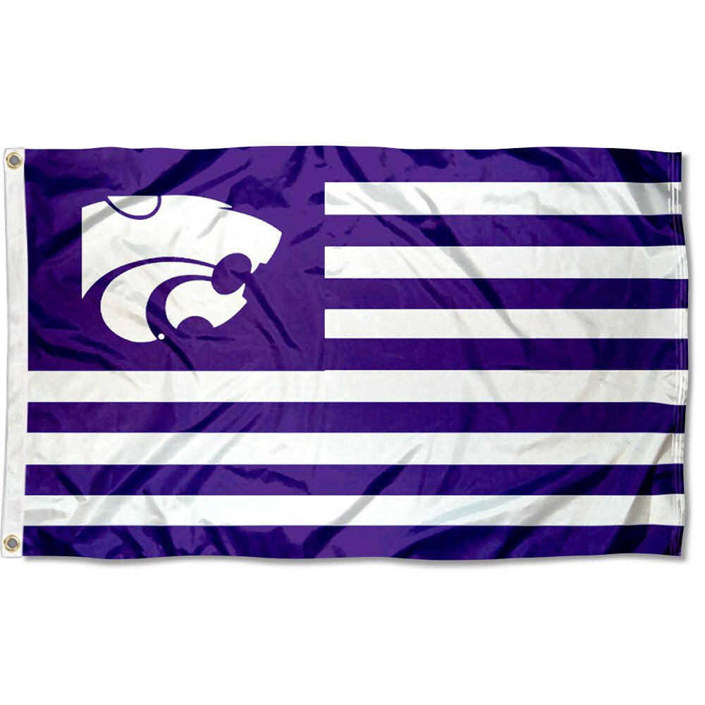 Kansas State Wildcats American Flag Design 3' x 5' Flag