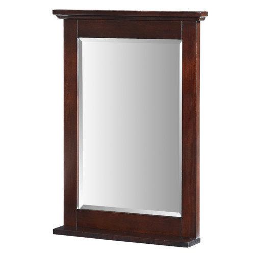 Xylem Group M-GLENAYRE-24DK Glenayre 24 inch Bathroom Vanity Mirror in Espresso