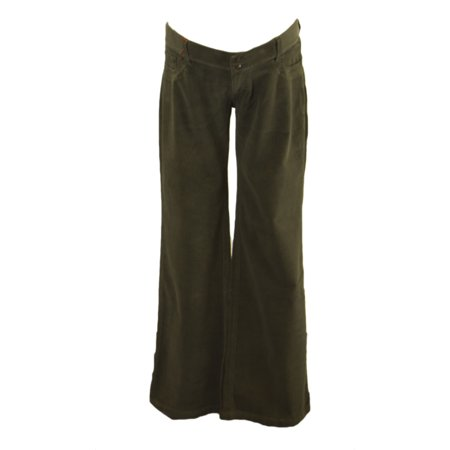Forest Green Corduroy (Elly B by OLIAN Maternity Women's Corduroy Bootcut Pants Large Forest Green )