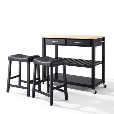 - Crosley Furniture Solid Black Granite Top Kitchen Cart with 24