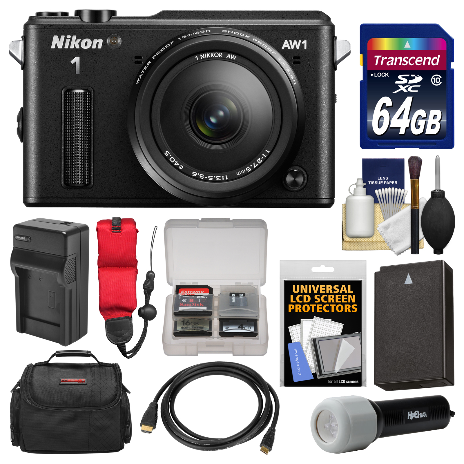 Nikon 1 AW1 Shock & Waterproof Digital Camera Body with A...