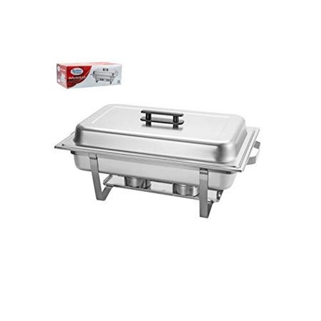 9.5 L/8 QT Chafing Dish High Grade Stainless Steel Full Size Chafer Chafing Dish W/Handle, Water Pan, Food Pan, Fuel Holder and Lid For Catering Buffet Warmer Set - Catering Pans