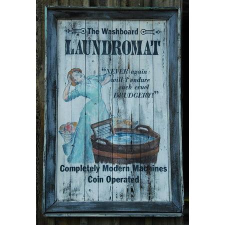 LAMINATED POSTER Advertising Wash Laundry Tub Washboard Vintage Poster Print 24 x -