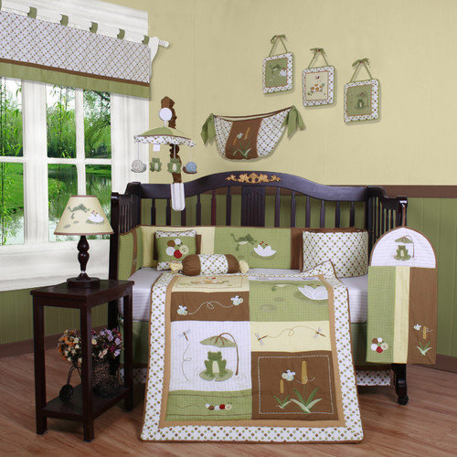Geenny Boutique New Froggy Froggie13 Piece Crib Bedding Set