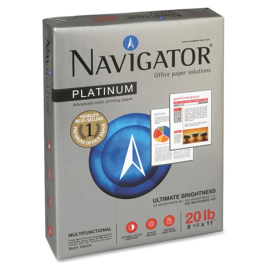 Soporcel, SNANPL11205R, Premium Navigator 20lb. Office Copy Paper, 2500 / Carton, White