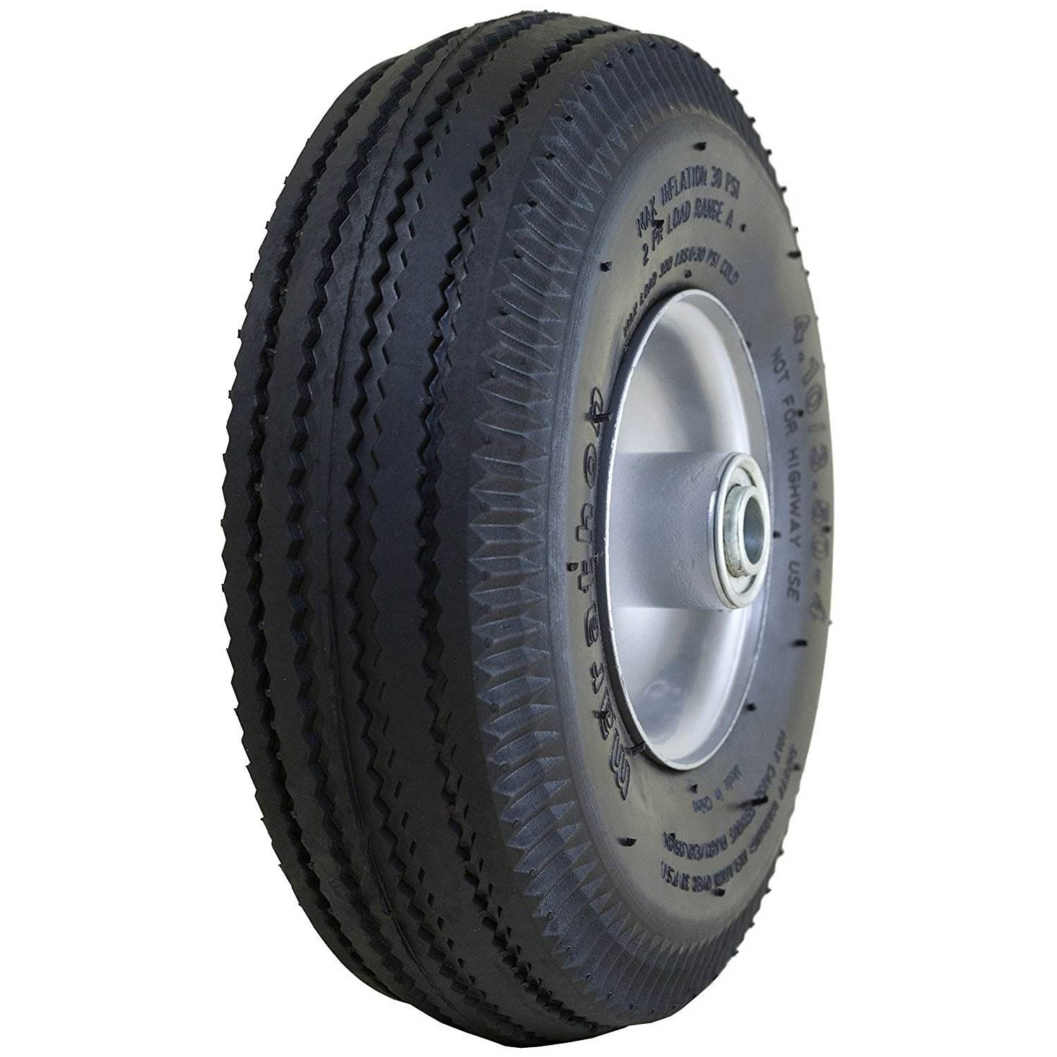 """Tires Utility Wheels 10/"""" Pneumatic Tire 4.10//3.50-4 with 5//8/"""" Bearings"""