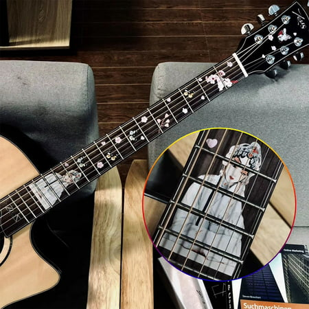 electric acoustic guitar inlay sticker fretboard markers decal guitarra stickers chinese style. Black Bedroom Furniture Sets. Home Design Ideas