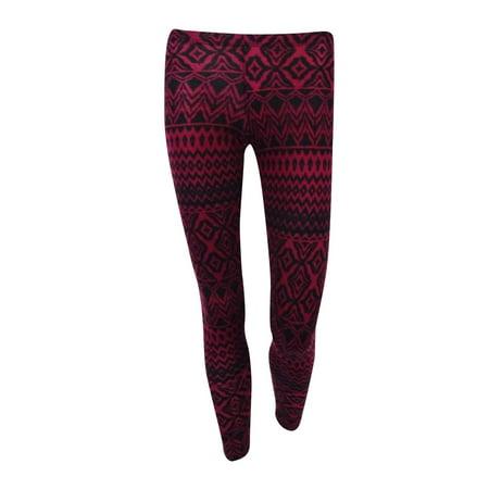 647822ffab5e27 Ultra Flirt - Ultra Flirt Juniors Printed Soft Knit Leggings - Walmart.com