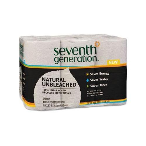Natural Unbleached 100% Recycled Bath Tissue SEV13735PK