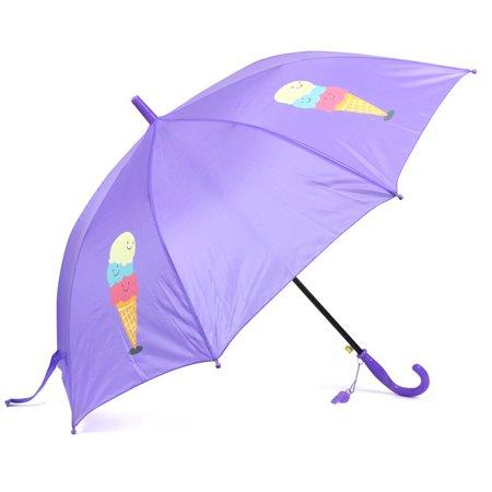 Zodaca Umbrella for Kids Children Rain Lightweight Portable Purple Ice-Cream