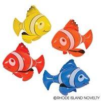 "4 Colorful Inflatable Clownfish 24"" / Party Favor / Clown Fish / Decoration / Nemo"