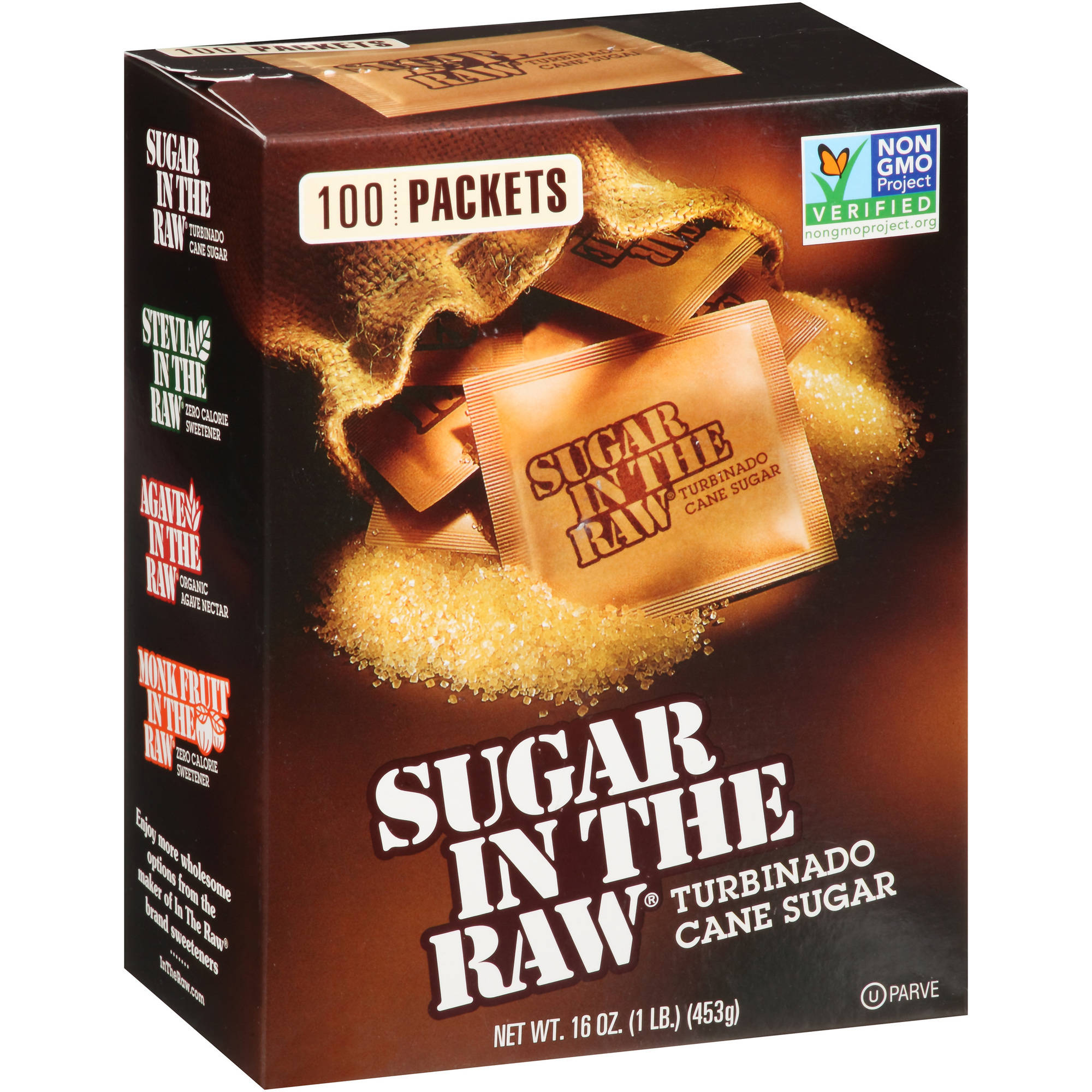 Sugar in the Raw Turbinado Cane Sugar, 100 count, 16 oz