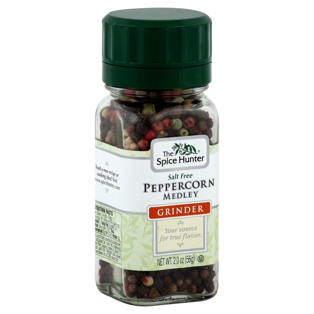 The Spice Hunter Salt Free Peppercorn Medley Grinder, 2.0 OZ