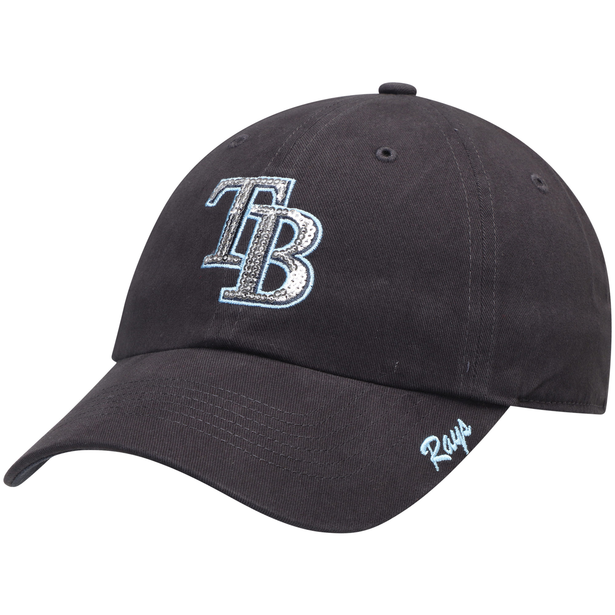 Women's Fan Favorite Navy Tampa Bay Rays Sparkle Adjustable Hat - OSFA
