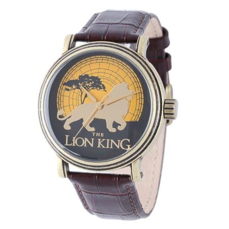 Disney Lion King Men's Antique Gold Vintage Alloy Watch,