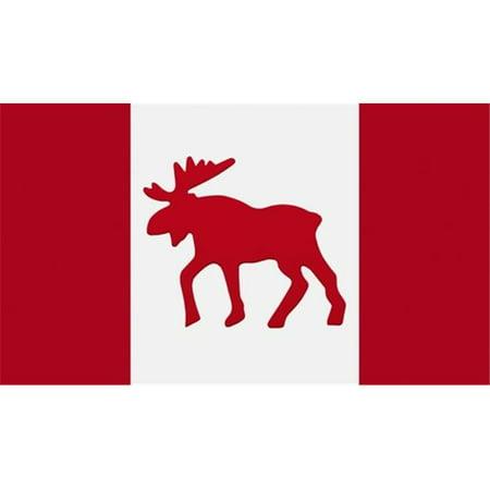 Moose Emblem On Canadian Flag Poster Print By Darren Greenwood 36 X 20 Large