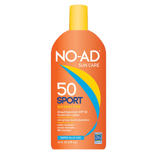 No-Ad Sport Sunscreen Lotion, Spf 50 - 16 Oz, 3 Pack