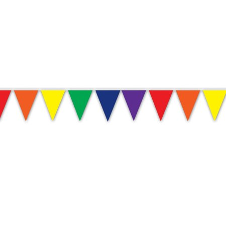 Club Pack of 12 Multi-Colored Circus Themed Outdoor Pennant Banner Hanging Party Decorations 12' (Circus Theme)