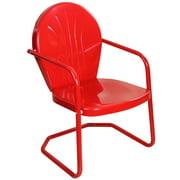 34-Inch Outdoor Retro Tulip Armchair, Red