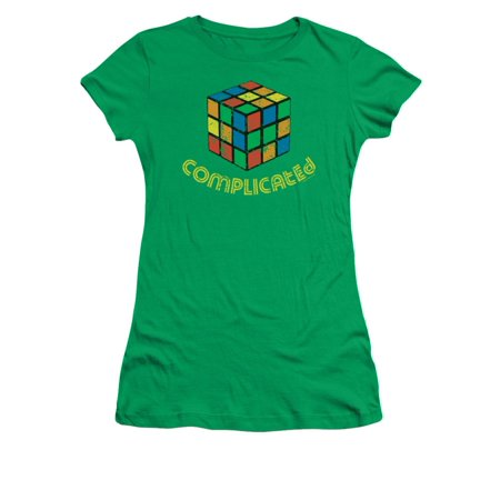 Eighties Clothes Style (Retro Eighties Distressed Vintage Style Complicated Rubiks Cube Juniors Sheer)