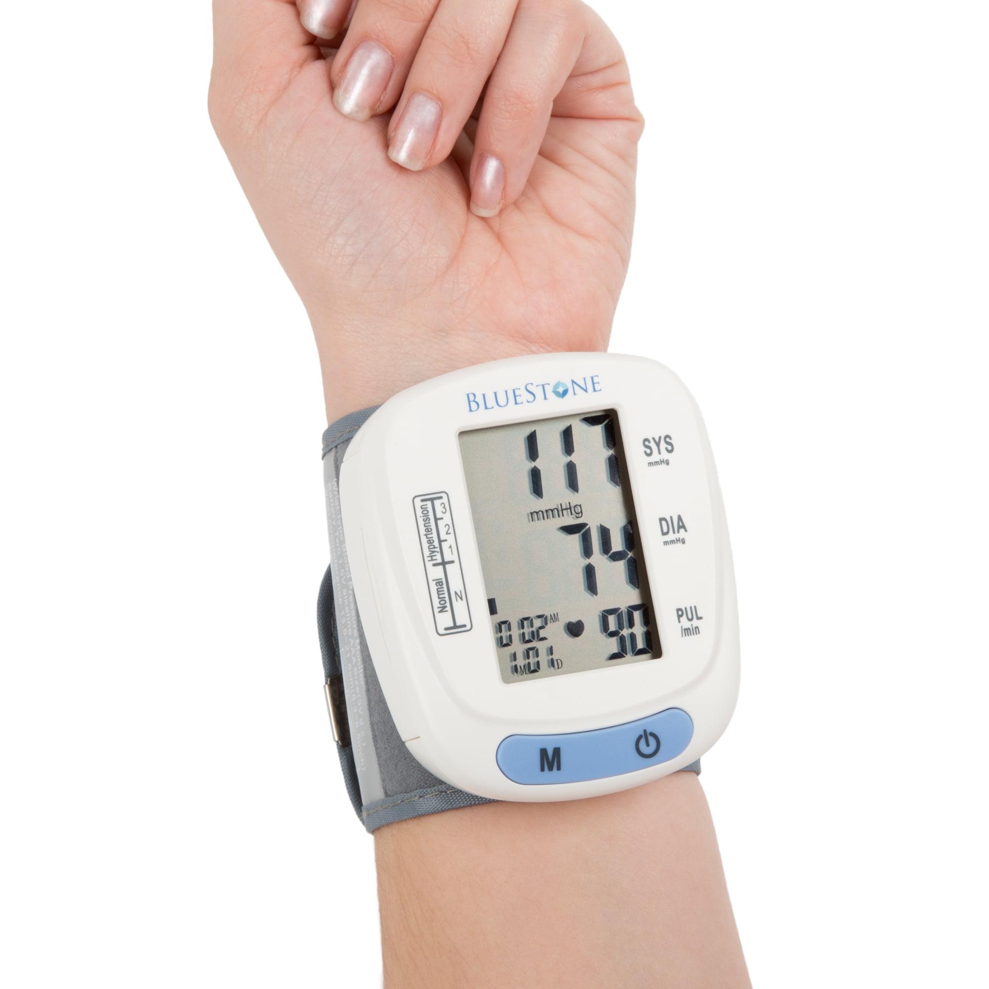 Bluestone Automatic Wrist Blood Pressure Monitor with 120 Memory