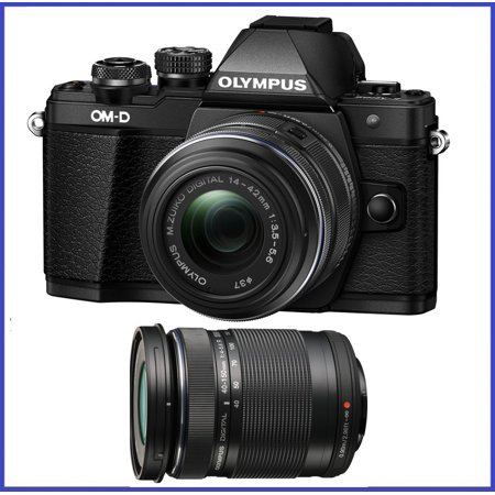 Olympus OM-D E-M10 Mark II Mirrorless Micro Four Thirds Digital Camera with 14-42mm EZ Lens (Black) & Olympus M.Zuiko Digital ED 40-150mm f/4.0-5.6 R Lens (Black) (USA Warranty)
