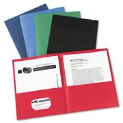 avery two pocket folder 40 sheet capacity assorted colors 25
