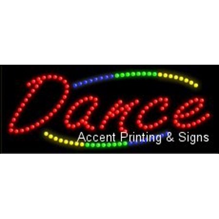 Dance Led Sign  High Impact  Energy Efficient