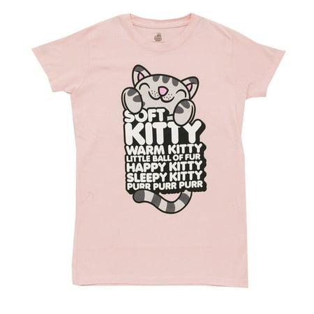 c7a527f79 Big Bang Theory - Big Bang Theory Soft Kitty TV Show Ripple Junction Juniors  Babydoll T-Shirt Tee - Walmart.com